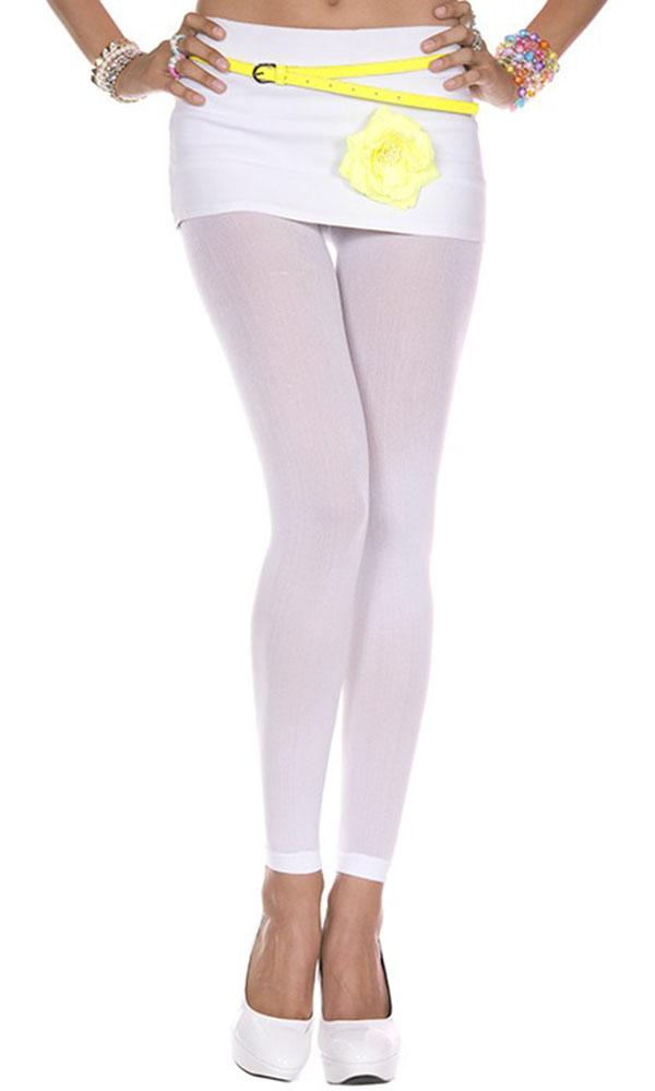 Opaque Footless [White] | LEGGINGS*