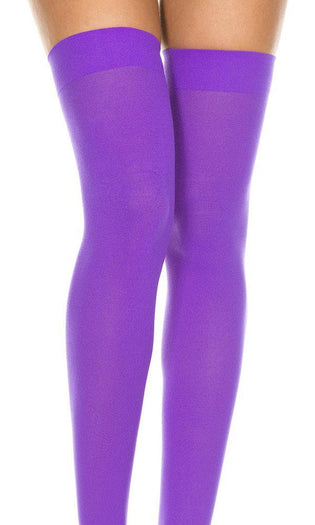 Purple Opaque | THIGH HIGH