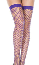 Purple Spandex Diamond Net | THIGH HIGH