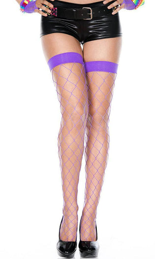 Purple Spandex Fence Net | THIGH HIGH