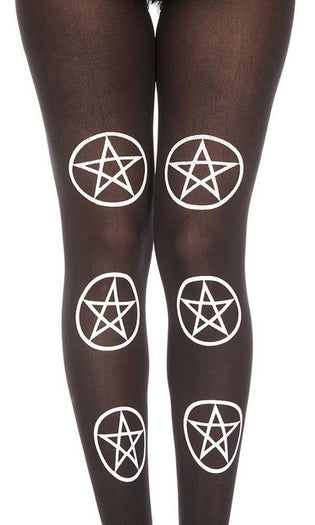 Six Star Pentagram Print | PANTYHOSE