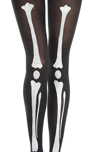 Skeleton Print [Black/White] | PANTYHOSE