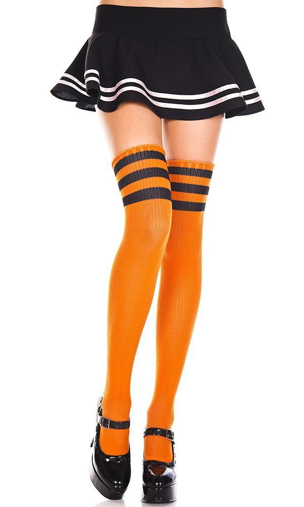 Spandex Acrylic Athlete [Orange/Black] | THIGH HIGH*