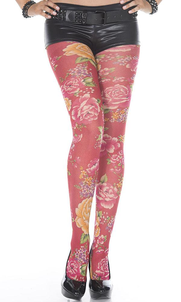 Spandex Blooming Flowers | PANTYHOSE