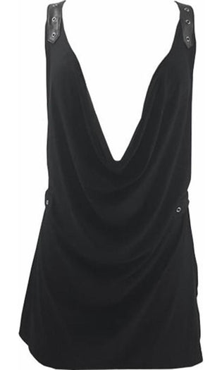 Vesta Plunge | COWL NECK TOP
