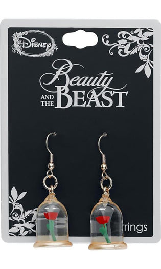 Beauty & The Beast | Enchanted Rose EARRINGS