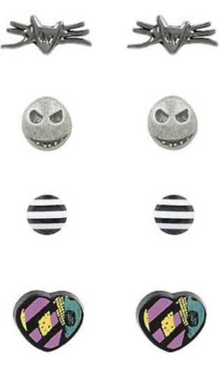 The Nightmare Before Christmas | 4 Pack EARRING SET