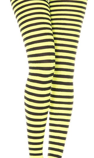 Opaque Striped [Black/Neon Yellow] | PANTYHOSE