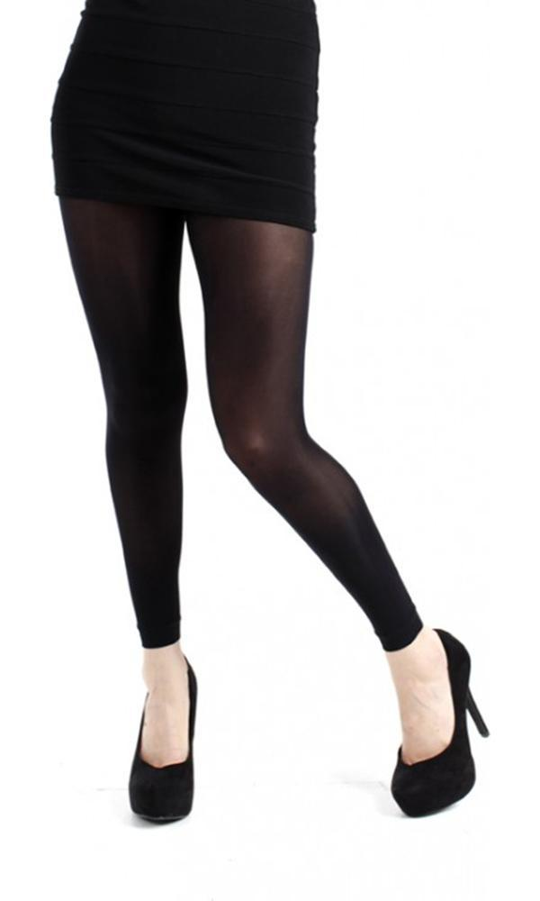 40 Denier Velvet [Black] | FOOTLESS TIGHTS