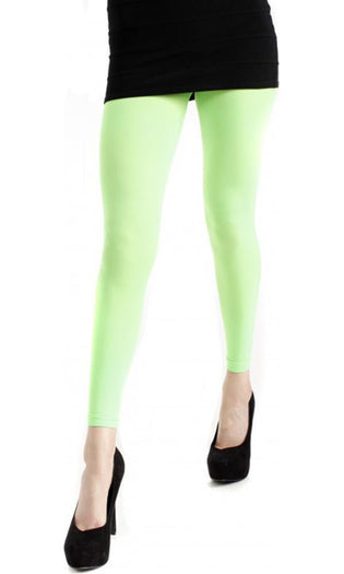 40 Denier Velvet [Flo Green] | FOOTLESS TIGHTS