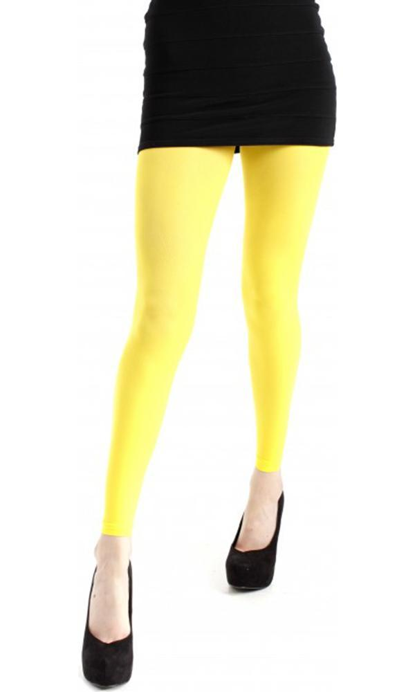 40 Denier Velvet [Flo Yellow] | FOOTLESS TIGHTS