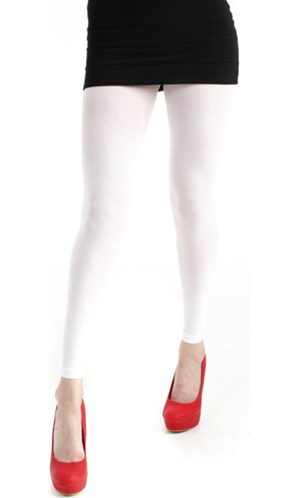 40 Denier Velvet [White] | FOOTLESS TIGHTS