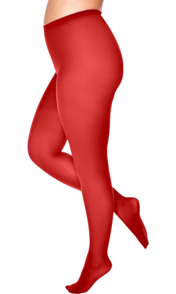 50 Denier Curvy Super-Stretch [Maroon Red] | TIGHTS