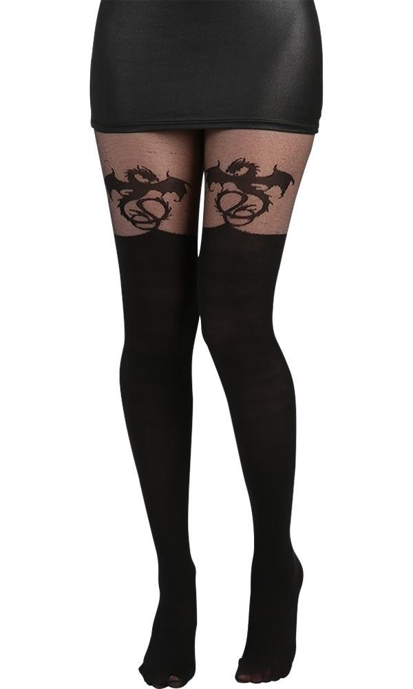 Alchemy Dragon [Black] Over The Knee | TIGHTS