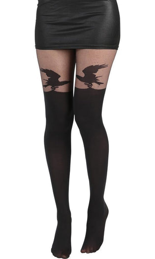 Alchemy Raven [Black] Over The Knee | TIGHTS