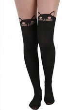 Kitty Cat Over The Knee [Black] | TIGHTS