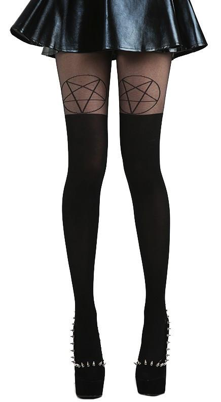 Pentagram Over The Knee Tights