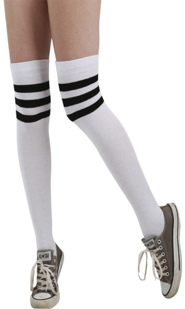Referee [White/Black] | OVERKNEE SOCKS