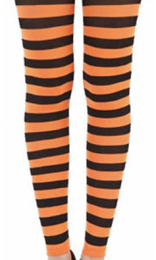 Twickers [Flo Orange] | FOOTLESS TIGHTS