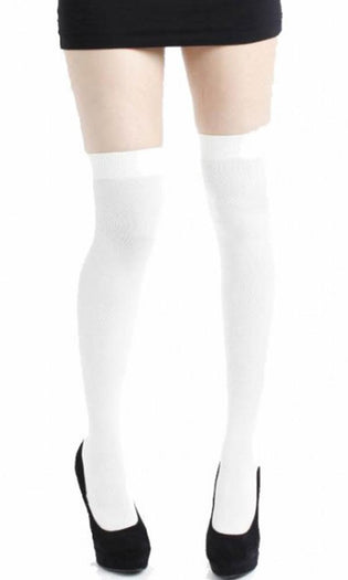 White | OVERKNEE SOCKS