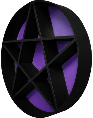 PENTAGRAM SHELF | Black & Purple 2