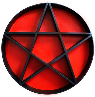 PENTAGRAM SHELF | Black & Red