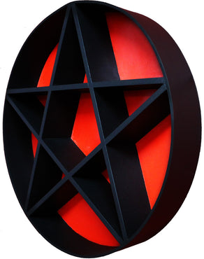 PENTAGRAM SHELF | Black & Red 2