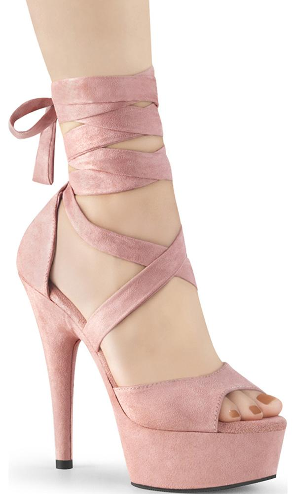 DELIGHT-679 | B. Pink Faux Suede/B. Pink Faux Suede [PREORDER]