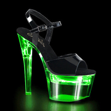 FLASHDANCE-709 Black PAT/Clear Green