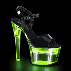 FLASHDANCE-709 Black PAT/Clear Lime