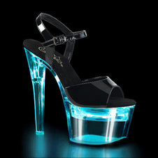 FLASHDANCE-709 Black PAT/Clear Aqua