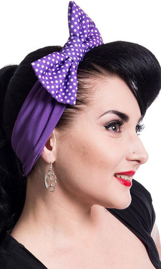 Bailie [Purple Polka] | HEADBAND