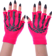 BGS [Pink/Black] | FINGERLESS GLOVES