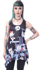 Horror Cats Lace | PANEL VEST