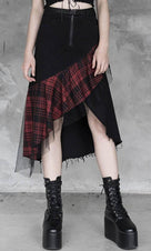 Darkness | IRREGULAR SKIRT