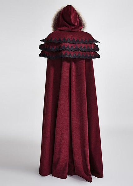 Punk Rave Foxa Faux Viking Red Cloak Buy Online