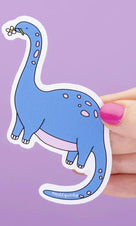 Blue Apatosaurus Dinosaur Large | VINYL STICKER