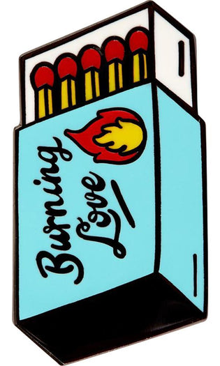 Burning Love Matchbox | ENAMEL PIN