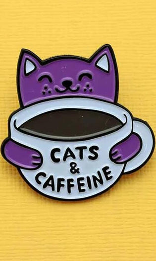 Cats & Caffeine | ENAMEL PIN
