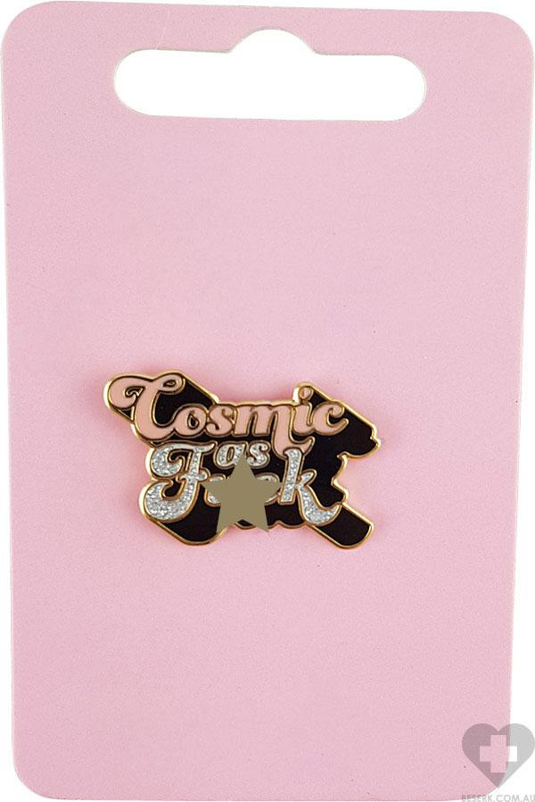 Cosmic As F**k Peach And Black | ENAMEL PIN