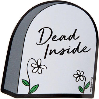Dead Inside Tombstone | LAPTOP STICKER