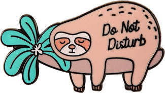 Do Not Disturb Sloth | ENAMEL PIN