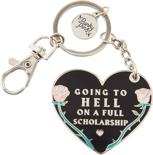 Going To Hell On A Full Scholarship | ENAMEL KEYRING