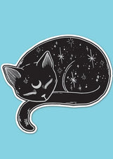 Mystical Cat Die Cut Vinyl Sticker