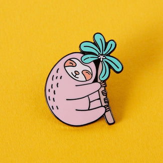 Pink Sloth | ENAMEL PIN