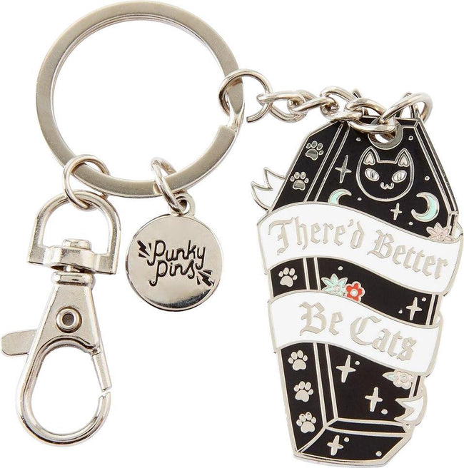 There'd Better Be Cats | ENAMEL KEYRING