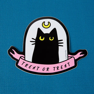 Treat Or Treat Cat | LAPTOP STICKER
