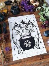 Axolotl Coven | ART PRINT