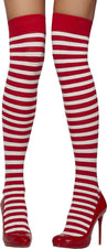 Red And White Striped Opaque Hold Ups