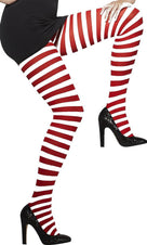 Red And White Striped Opaque | TIGHTS